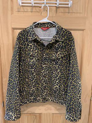 Supreme cheetah denim for Sale in Palmyra, NJ