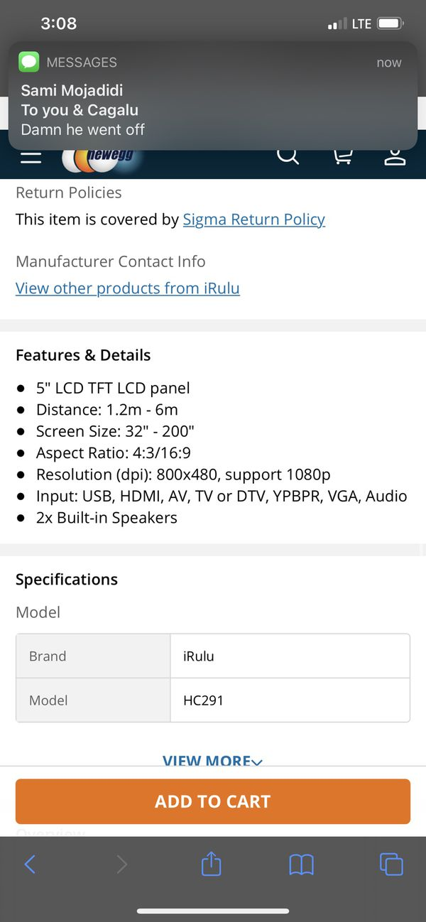 IRULU 1080p projector