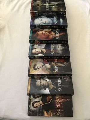 """DVD CW Network Series """"Supernatural""""Seasons 1-8 Missing Season 5 All Seasons Complete Discs In Good Condition for Sale in Reedley, CA"""