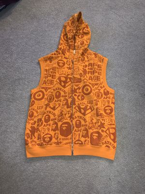 Bape a bathing ape mens M sleeveless hoodie for Sale in Portland, OR
