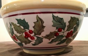 Longaberger Pottery Holiday Serving Bowl for Sale in Bellevue, WA