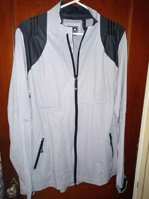 Adidas windbreaker waterproof jacket grey and black size Large $35 for Sale in Lindenwold, NJ