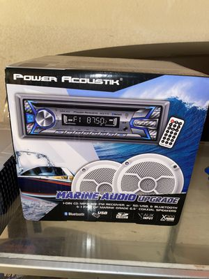 Power acoustik radio with 2 marine speakers. GREAT COMBO! GREAT BUY! for Sale in Fontana, CA