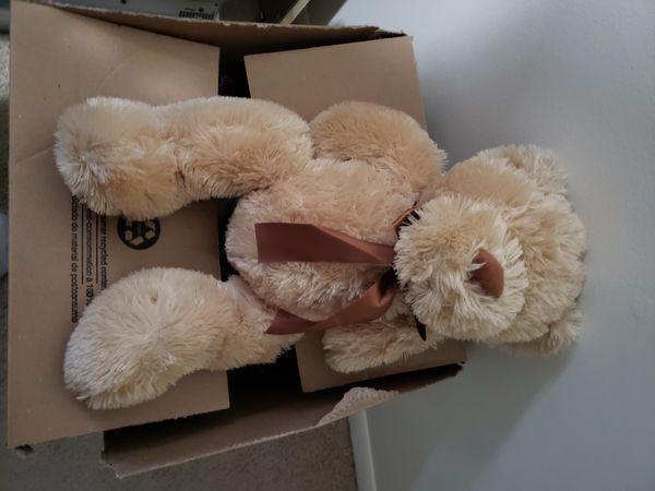 Brown dog plush toy