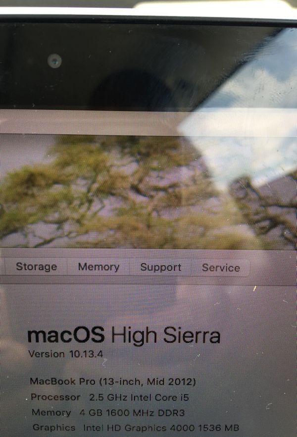 2012 Mac book pro