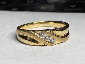 Solid gold diamond ring size 10.5 sizeable for Sale in Miami, FL