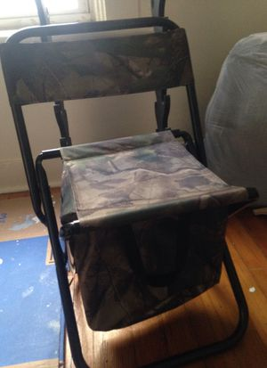 Foldable chair with underseat cooler for Sale in Schenectady, NY