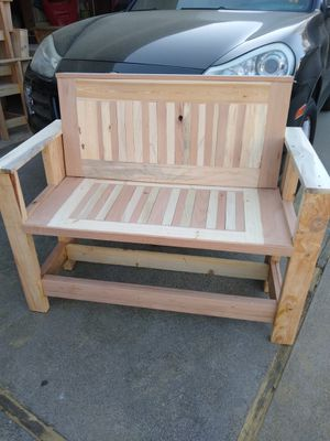 Custom patio furniture bench for Sale in Rocklin, CA