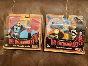 Lot of (2) items: MR INCREDIBLE & SYNDROME - THE INCREDIBLES (2003) Disney Pixar for Sale in Modesto, CA