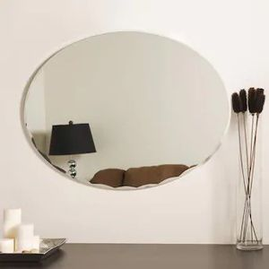 Decor Wonderland 23.6-in Oval Frameless Bathroom Mirror for Sale in Palmdale, CA