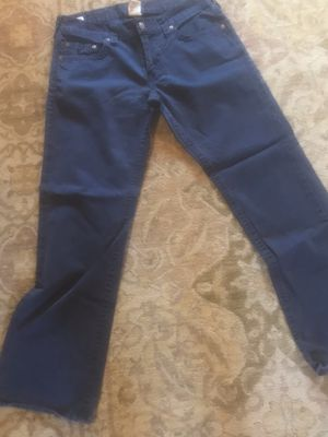 """True religion """"Bobby"""" blue cloth pants size 36 for Sale in Clairton, PA"""