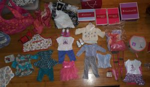 American Girl dolls assorted clothes and accessories for Sale in Lafayette, LA