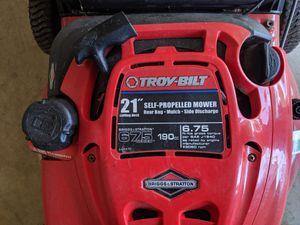 """Troy Bilt 21"""" self propelled lawn mower-$140 for Sale in Calverton, MD"""