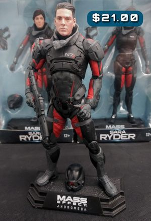 """McFarlane Mass Effect: Andromeda Scott Ryder Action Figure #21 7"""" Articulated Action Figure Loose for Sale in Alameda, CA"""