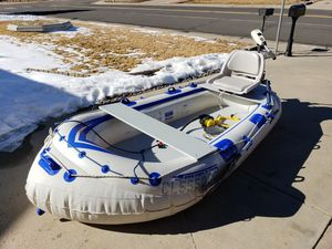 Sea Eagle SE-8 Fishing Boat and Accessories for Sale in Thornton, CO