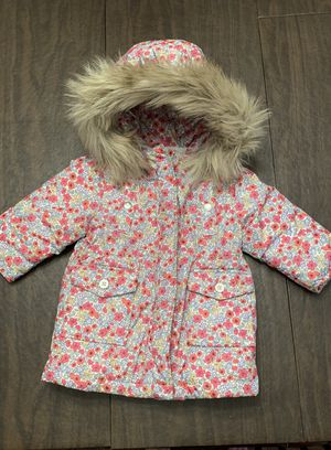 The GAP baby floral hooded puffer coat for Sale in Marlboro Township, NJ