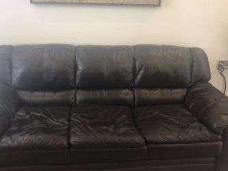 2 Piece Brown Leather Chair And Sofa..MAKE A OFFER for Sale in Broomfield,  CO