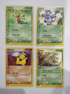 Treecko Koffing Makuhita Grovyle Mint Pokemon EX-R&S for Sale in Forest Heights, MD
