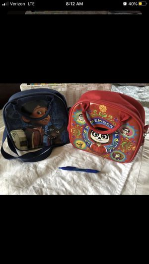 Halloween bag Disney Coco movie NEW lunch box lunch bag kid child boy girl toy storage purse backpack carrier red blue for Sale in West Covina, CA
