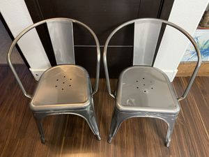 Metal Dining Room Chairs-Set of 2 for Sale in Las Vegas, NV
