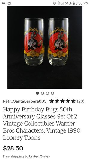 BugsBunny 50th Aniversary Collectable Glasses for Sale in Menifee, CA