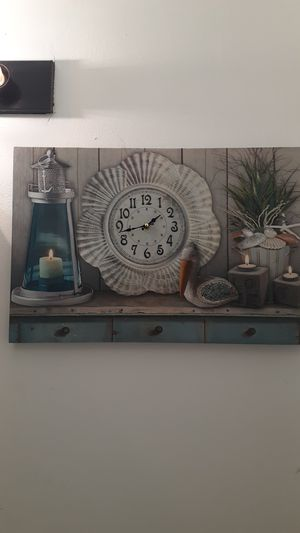 Picture with clock for Sale in Norfolk, VA