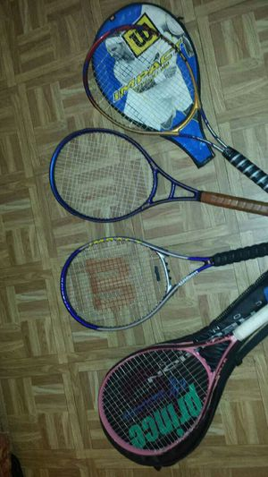 4 good tennis rackets for Sale in Bronx, NY