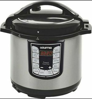 New Gourmia 6-Quart Pressure Cooker Stainless Steel Instant Pot for Sale in Pueblo West, CO