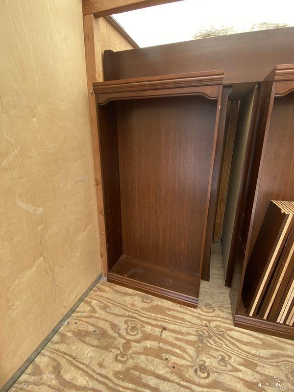 Free! 9 Wooden Bookshelves, Must Go