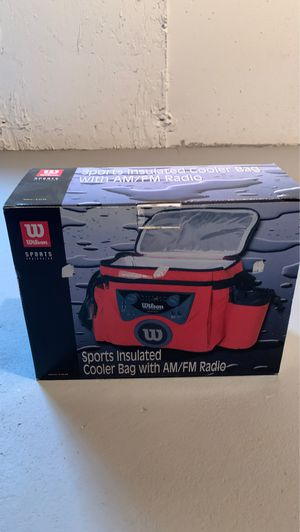 Wilson sports insulated cooler bag with radio for Sale in West Chicago, IL