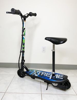 """Brand New $75 Kids Teens Electric Scooter w/ Seat Hand Brake Kick Stand Rechargeable Battery (29x8x35"""") for Sale in El Monte, CA"""