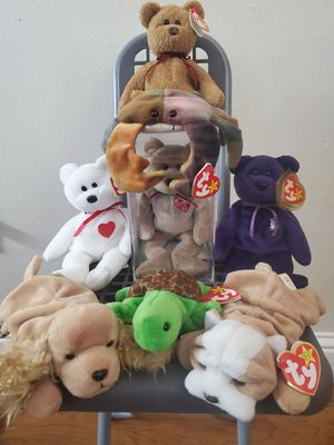 Ty Beanie baby collection 1990's with errors for Sale in San Jose, CA