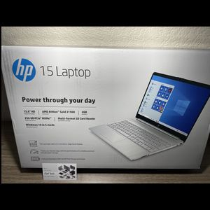 New Sealed 15inch HP Laptop AMD Athlon Processor 4gb RAM 256gb SSD Windows 10 S Mode for Sale in Fresno, CA