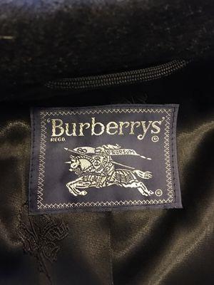 Burberry - virgin wool trench coat. Black. for Sale in Arlington, VA