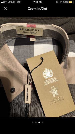 Burberry long sleeved shirt for Sale in Wichita, KS