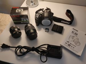 PENTAX K-50 DSLR with 18-55mm and 35mm lenses for Sale in Ithaca, NY
