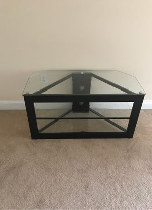 TV stand glass shelves for Sale in Christiansburg, VA
