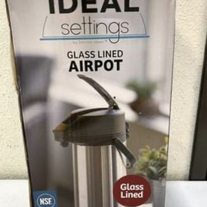 Service Ideas 2.2 Liter Glass Lined Airpot with Lever for Sale in Chino, CA