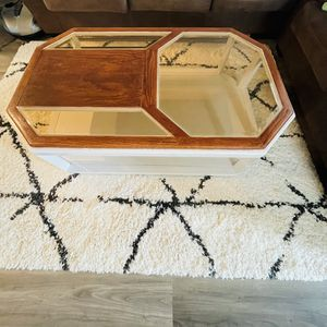 Refinished solid Wood Coffee Table -With Loads Of Storage Space At The Bottom - for Sale in Hillsboro, OR
