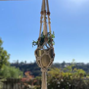 Hanging Plant Holder With Pot and A Ring Hook for Sale in San Diego, CA