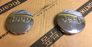 Pair of Chrome Jeep Center Caps Factory OEM for Sale in Clinton, CT