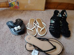 4 pairs of sandles for Sale in Aspen Hill, MD