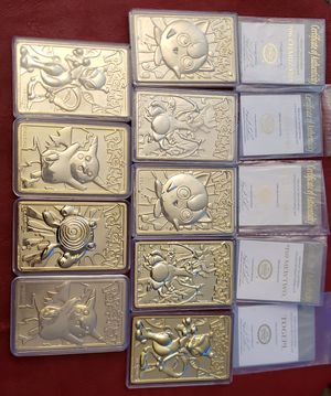 23K Pokemon cards BK promotional collectibles for Sale in Roseville, CA