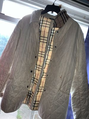 Burberry jacket white print for Sale in Brooklyn, NY