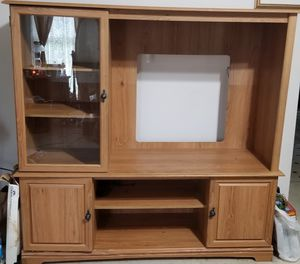 Big, Beautiful Study TV Stand!! for Sale in Kathleen, GA
