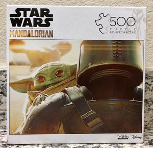 Buffalo Games Disney Star Wars The Mandalorian The Child 500 Piece Jigsaw Puzzle for Sale in Brooklyn, NY