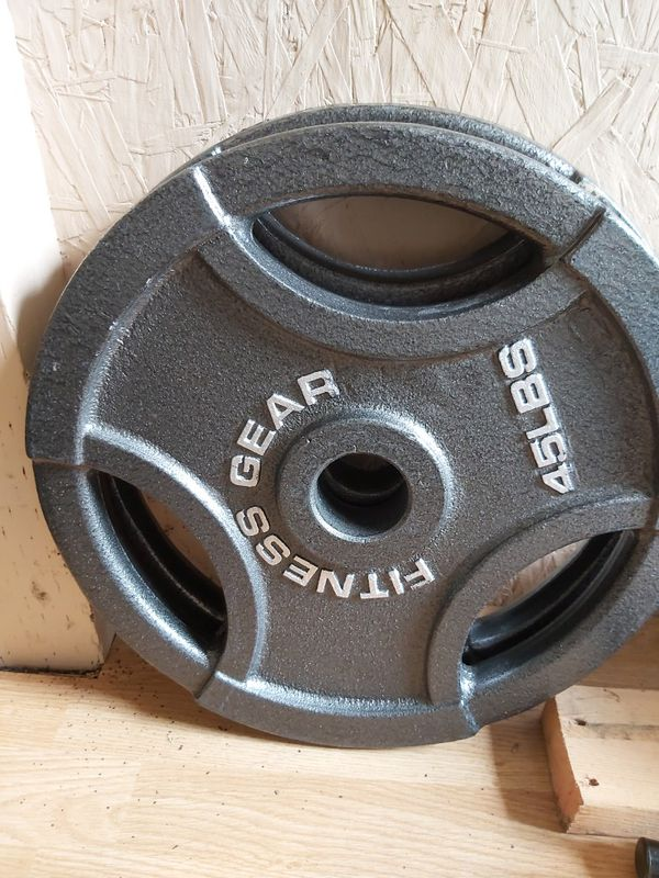 Weight/ Olympic size 2x45lb. Like new $160 firm
