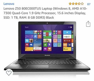 Lenovo 15.6 in laptop for Sale in Spring Valley, CA