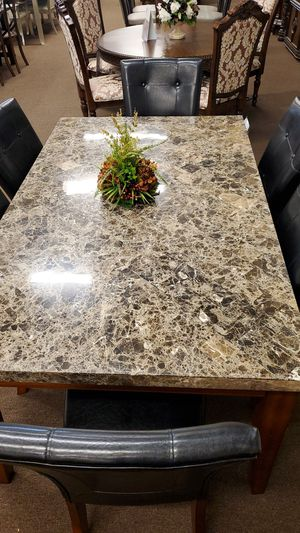 6 chair marble dinning table set for Sale in Victoria, TX