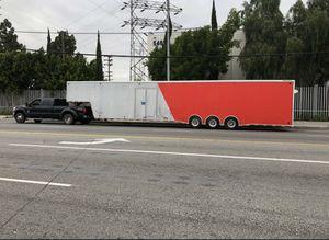 48ft enclosed car hauler trailer gooseneck 5th wheel cargo for Sale in Los Angeles, CA